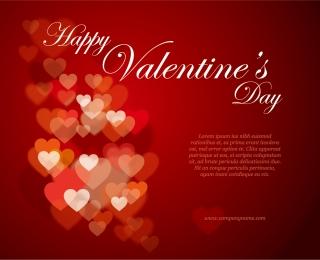 光るハートで表現するバレンタインデーの背景 Heart valentine day special イラスト素材2