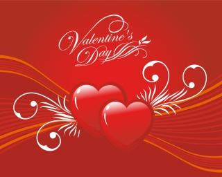 光るハートのバレンタインデーカード背景 Heart Happy Valentine's Day Greeting Card イラスト素材