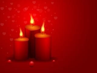 赤いキャンドルと炎の背景 Beautiful valentine cards Background イラスト素材