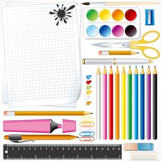 文房具のクリップアート school supplies イラスト素材