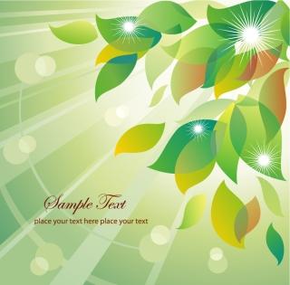 陽に輝く木の葉の背景 Abstract Summer Floral Vector Illustration イラスト素材