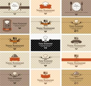 レストラン メニューの表紙見本 Cover sample of restaurant menu イラスト素材