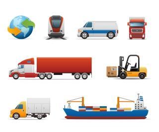 乗り物のシルエットとクリップアート Transport silhouette イラスト素材2