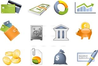お金に関連するアイコン commercial and financial icon イラスト素材