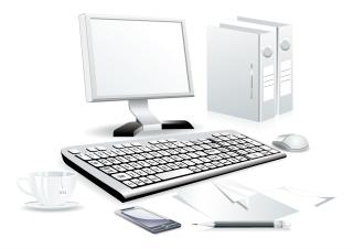 パソコン周りのクリップアート computer accessories イラスト素材