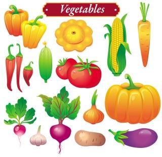 野菜のクリップアート vegetables vector イラスト素材2