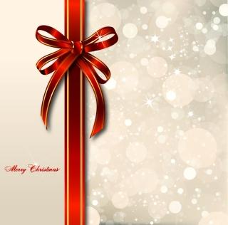 輝く蝶結びのりボン飾り Dream light bow ribbon gift boxes イラスト素材