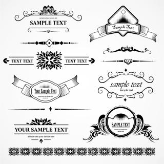 実用的な飾り罫 practical fashion pattern イラスト素材