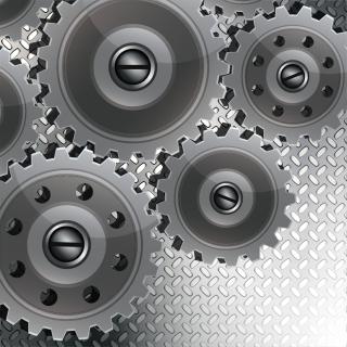 金属製歯車の背景 metallic gears background イラスト素材