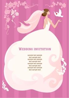 ウェディングドレスの花嫁を背景にしたテキストスペース beautiful love theme background イラスト素材