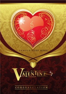 ゴージャスな愛のカード背景 gorgeous card love pattern イラスト素材3
