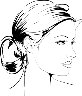 手書きのエレガントな女性 handpainted elegant women vector イラスト素材3