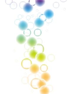 淡い色がぼやけた背景 Beautiful Bokeh Abstract Vector Background イラスト素材