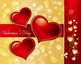 愛をテーマにしたバレンタインデー背景 love the background pattern イラスト素材1