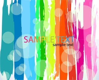 抽象的な虹色ペイントの背景 Abstract Rainbow Color Vector Background イラスト素材