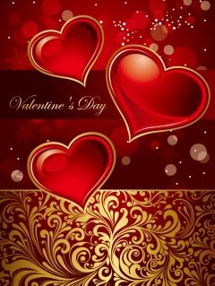 ゴージャスな愛のカード背景 gorgeous card love pattern イラスト素材1