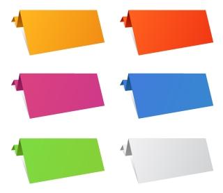 カラフルな折り紙のテキスト シート Colorful Origami Paper Sheets イラスト素材