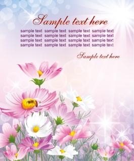 陽を浴びた花びらの背景 colorful flowers background イラスト素材