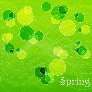 春の新緑をイメージした背景 Abstract Spring Background イラスト素材