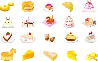 チーズとケーキのクリップアート cheese cake dessert vectorタイトル イラスト素材