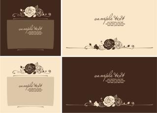 手書き風薔薇の線画の背景 handpainted rose pattern line draft イラスト素材