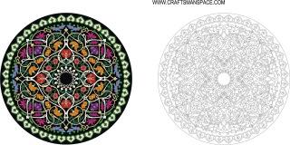 円形の飾りパターン Round Ornament pattern イラスト素材