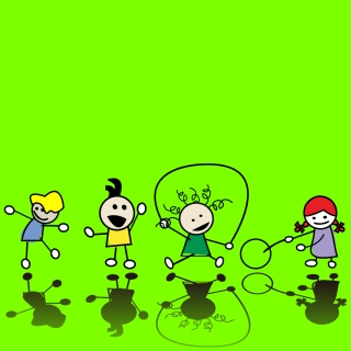 遊ぶ子供達のクリップアート children illustrator vector cute イラスト素材3