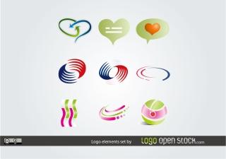 ロゴ制作デザイン見本 Logo Elements Set イラスト素材
