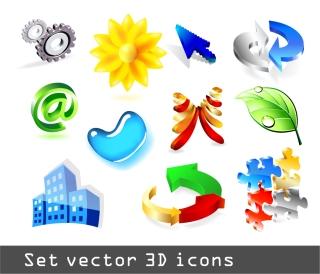 立体的なアイコンの見本 some threedimensional icon イラスト素材2