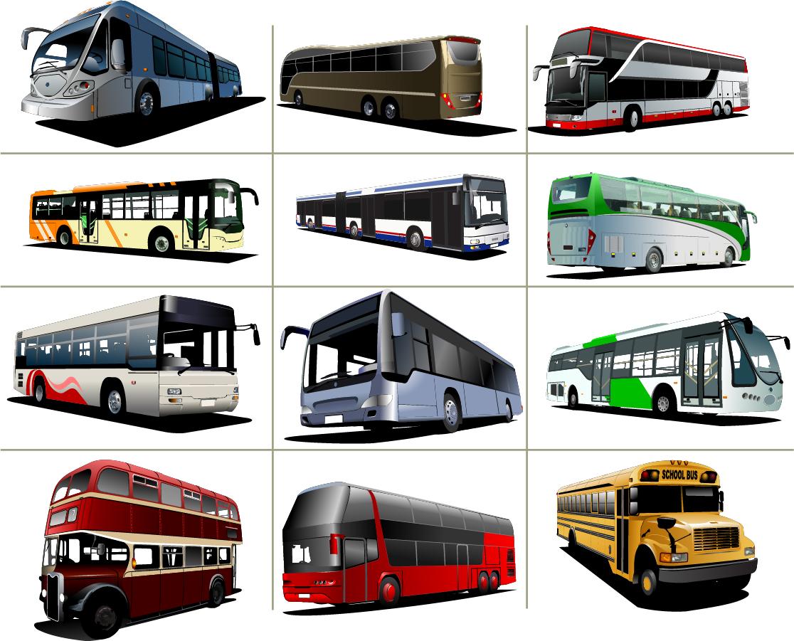 観光バスのクリップアート travel transport car bus イラスト素材