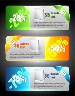 割引きセールのバナー sales price banners イラスト素材