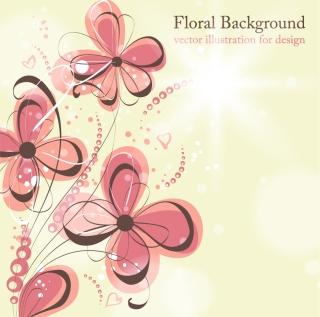 淡い色を重ねた花びらの背景 beautiful flowers illustration background イラスト素材