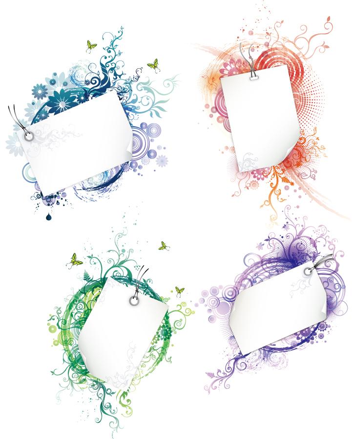 ... frame floral swirls イラスト素材 : 素材 時計 : すべての講義