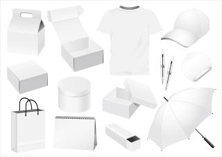 日用品の白地デザイン テンプレート practical elements of vector blank enterprise イラスト素材