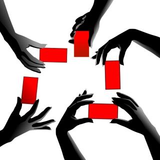 割引きタグを持つ手のシルエット hand silhouette sale tag イラスト素材3