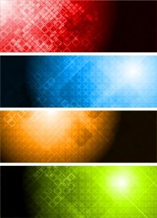 カラフルな背景が反射するバナー colorful banner vector イラスト素材