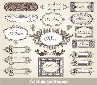 古典ヨーロッパ調のテキストフレーム european classic lace pattern イラスト素材