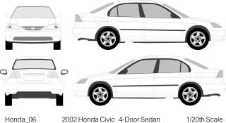自動車の線画 Vehicle Outlines イラスト素材