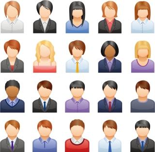 人型のアイコン セット Vector Business People Icons イラスト素材
