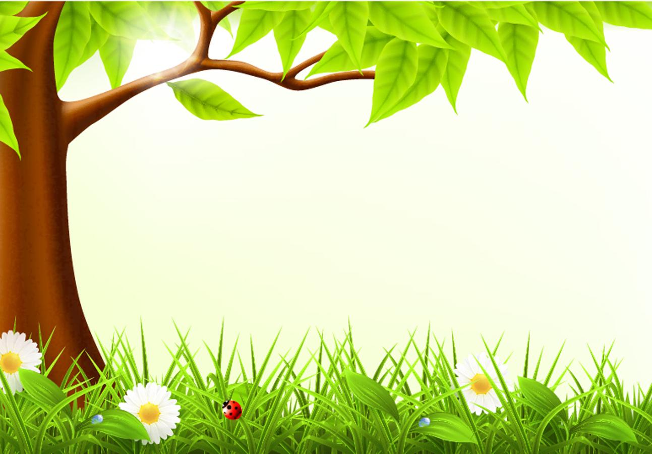 春の新緑の背景 spring grass background イラスト素材   illustpost
