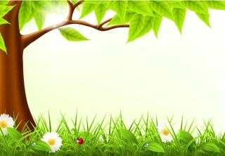 春の新緑の背景 spring grass background イラスト素材