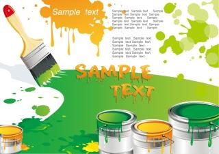 ペイントブラシのクリップアート paint brush with color the vector イラスト素材3