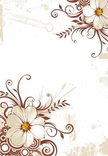 大きな花弁のコーナー飾り swirl flower background イラスト素材