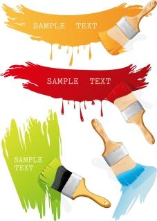 ペイントブラシのクリップアート paint brush with color the vector イラスト素材
