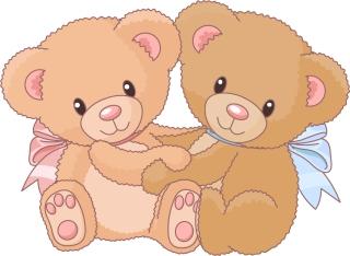 可愛い熊の縫いぐるみ cute cartoon bear vector イラスト素材3