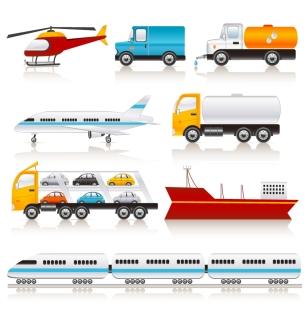 様々な乗り物のクリップアート variety of transport vector イラスト素材3