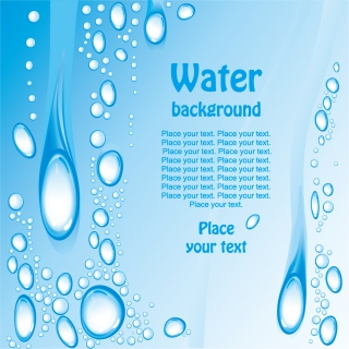 水滴が流れ落ちる背景 Beautiful blue water background イラスト素材