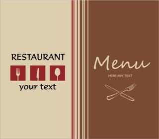 レストランメニュー表紙カバー restaurant menu background イラスト素材