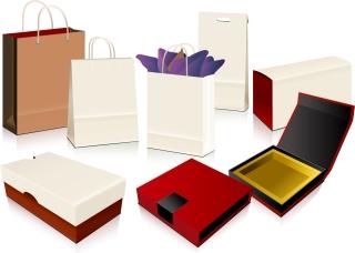 ショッピング パッケージ デザイン テンプレート empty shopping bag packaging vector イラスト素材