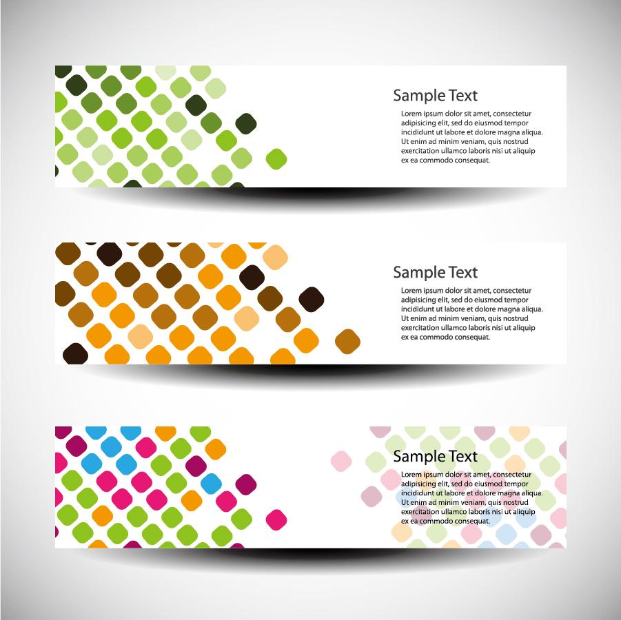 ドットを背景にしたバナー デザイン dot background fashion banners